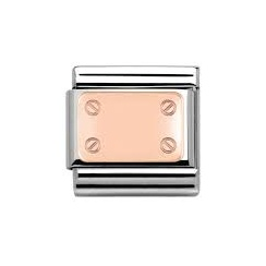 Nomination Classic Rose Gold Plate with Screws Charm 430101/02