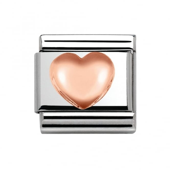 Nomination Classic Rose Gold Raised Heart Charm 430104/22