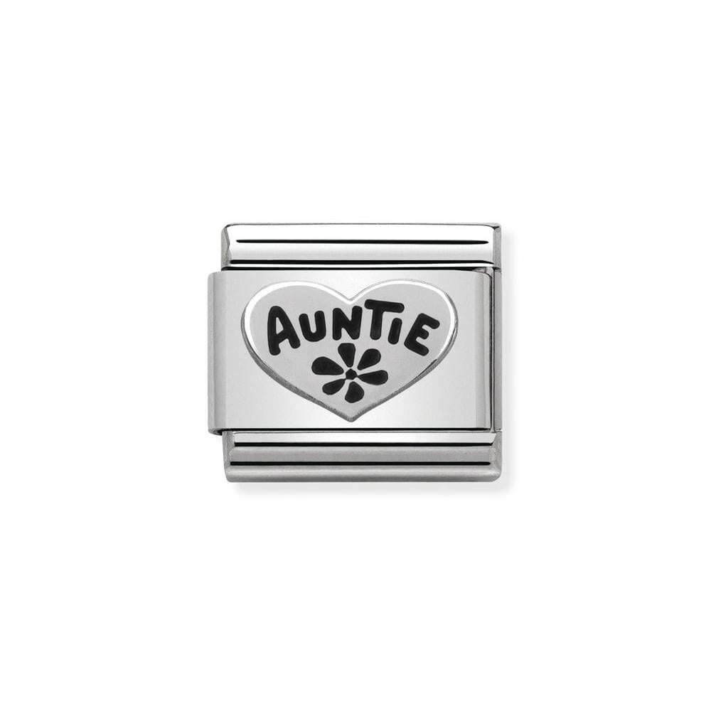 Nomination Classic Silver Auntie Heart Charm 330101 17 - Jewellery ... 68944d2e35