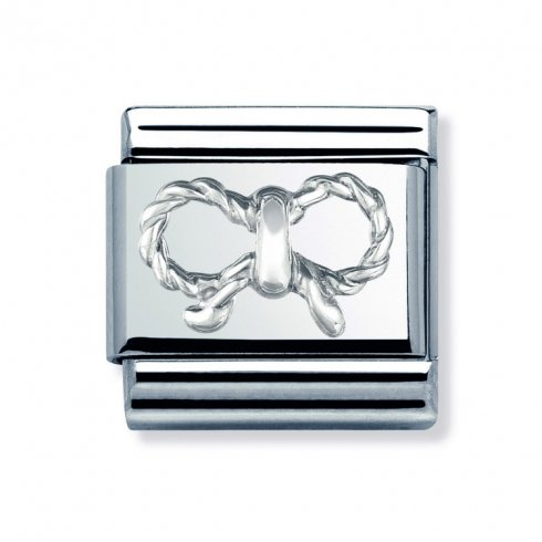 Nomination Classic Silver Bow Charm 030155/03