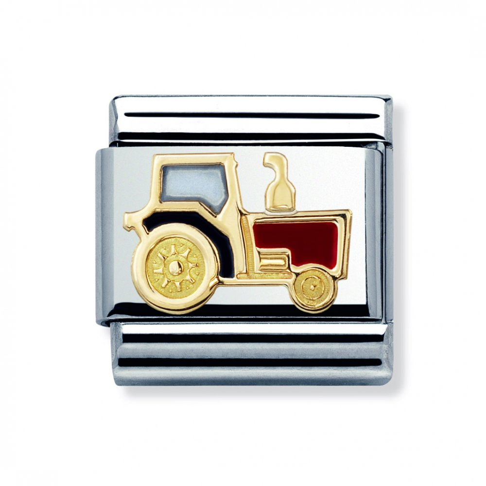 Nomination Classic Tractor Charm 030210 22 - Jewellery from Lowry ... 6365a0b3be18