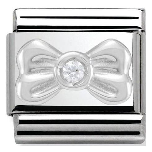 Nomination Classic White Bow Charm 330311/01