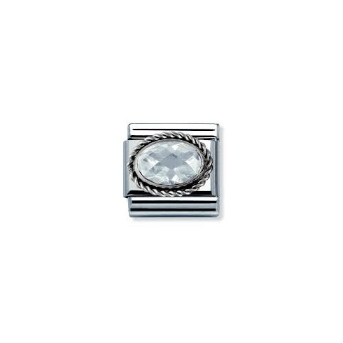 Nomination Classic White Cubic Zirconia Charm 030606/010