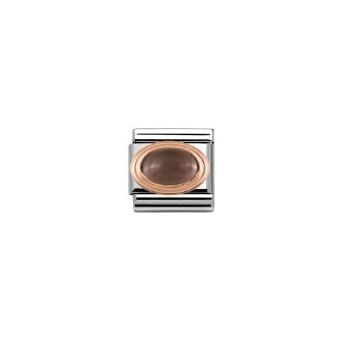 Nomination Italy Rose Gold Smokey Quartz Charm 430501/29