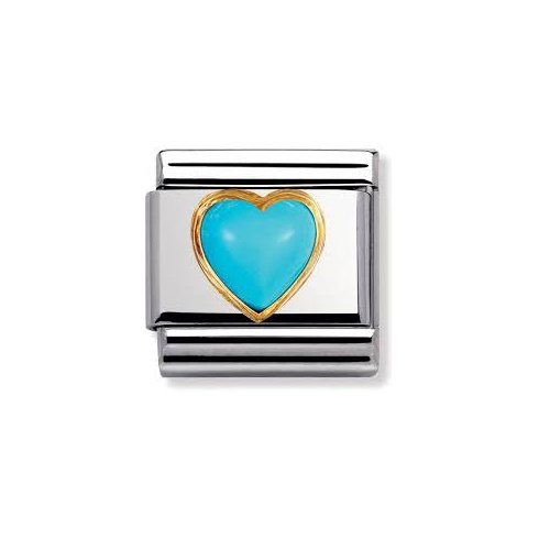 Nomination Turquoise Heart Charm 030501/06
