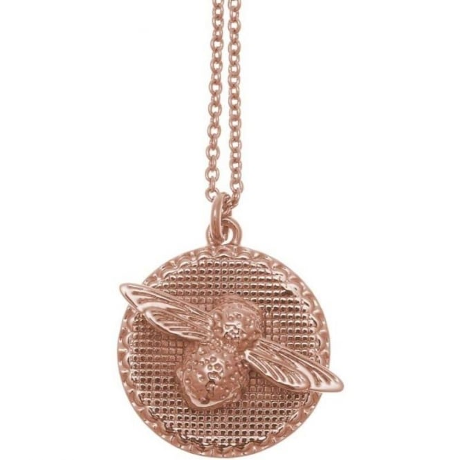 Olivia Burton Jewellery Rose Gold Plated 3D Bee Moulded Bee & Coin Necklace OBJ16AMN09