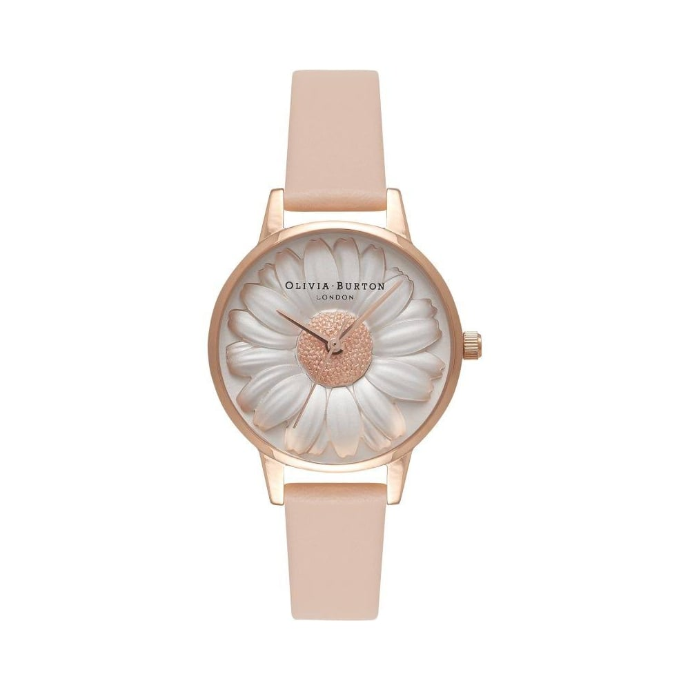 3d3796935d305 Olivia Burton Ladies  039  Flower Show 3D Daisy Nude Peach  amp  Rose Watch