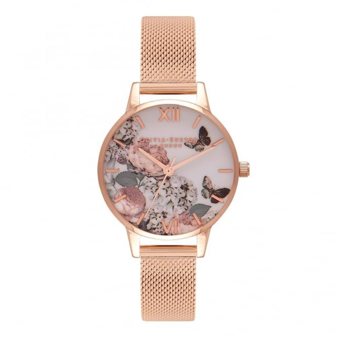 Olivia Burton Ladies' Midi Signature Floral Mesh Watch OB16FS91