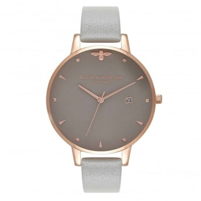 Olivia Burton Ladies' Queen Bee Grey & Rose Gold Watch OB16AM87