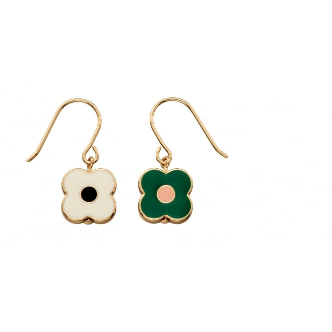 Orla Kiely Jewellery Abacus Flower Drop Earrings E5472
