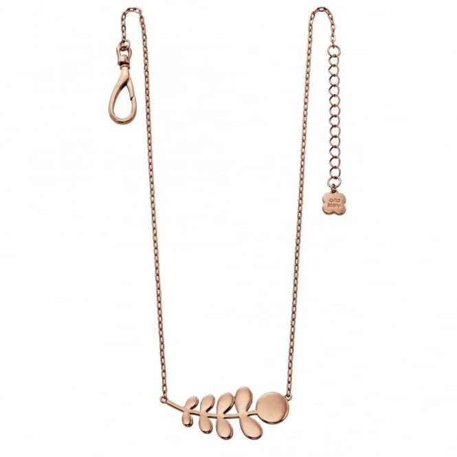 Orla Kiely Jewellery Buddy Rose Plated Leaf Necklace N4014