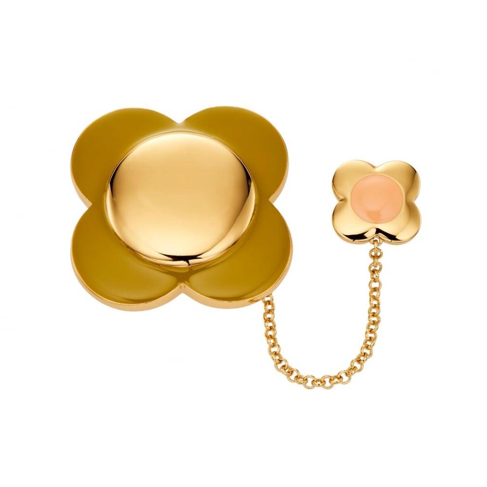 Orla Kiely Jewellery Gold Plated Brooch D341 - Jewellery from Lowry ... dd8879a98