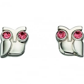 Orla Kiely Sterling Silver Owl Earrings