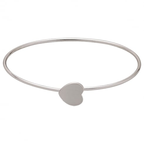 Pilgrim Classic Silver Plated Heart Bangle 60161-6012
