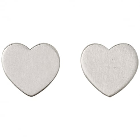Pilgrim Classic Silver Plated Heart Earrings 60161-6073