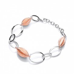 Puirty 925 Silver Rose Plated Bracelet PUR3586B
