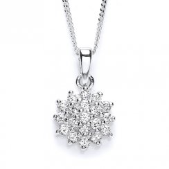 PURITY 925 Silver CZ Pendant & Chain PUR1502P