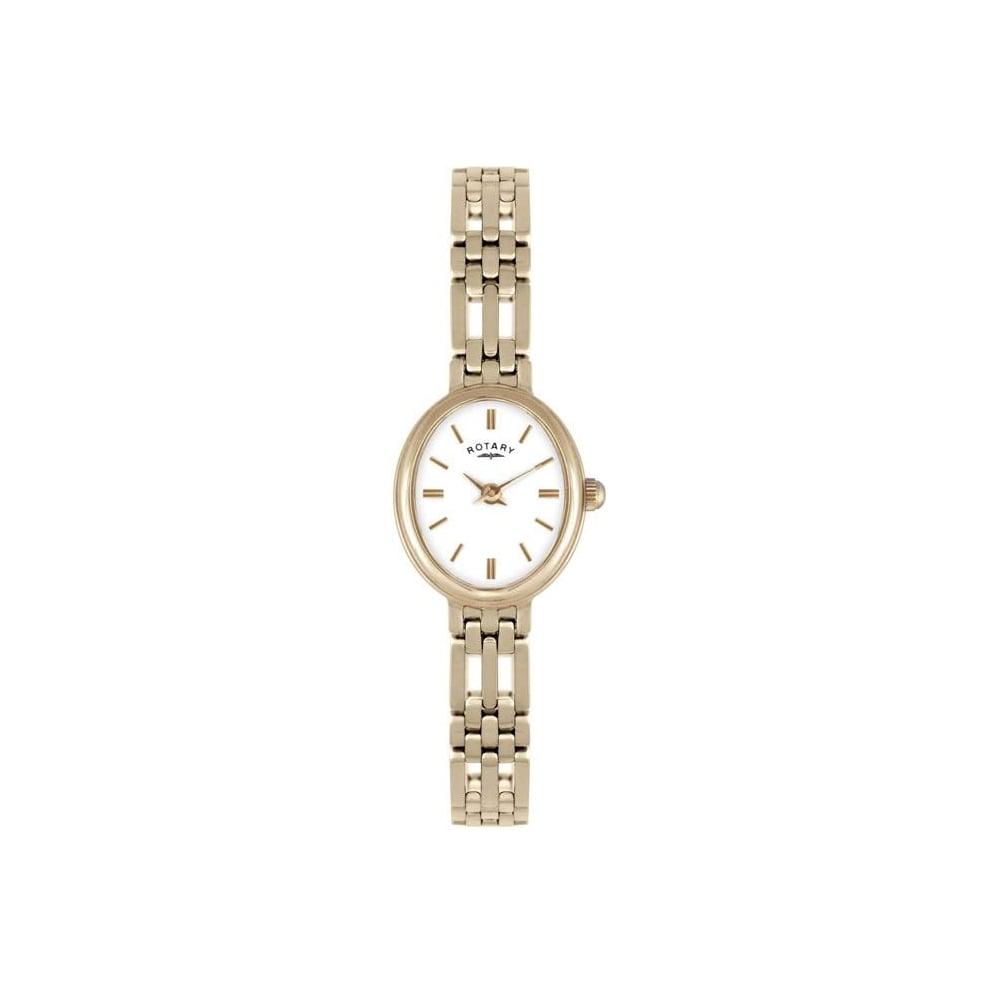 Rotary Ladies039 9ct Gold Bracelet Watch LB10090 02