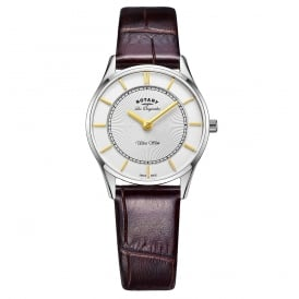 Rotary Ladies' Ultra Slim Strap Watch LS90800/02