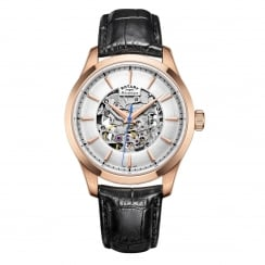 Rotary Men's Rose Skeleton Strap Watch GS05036/06