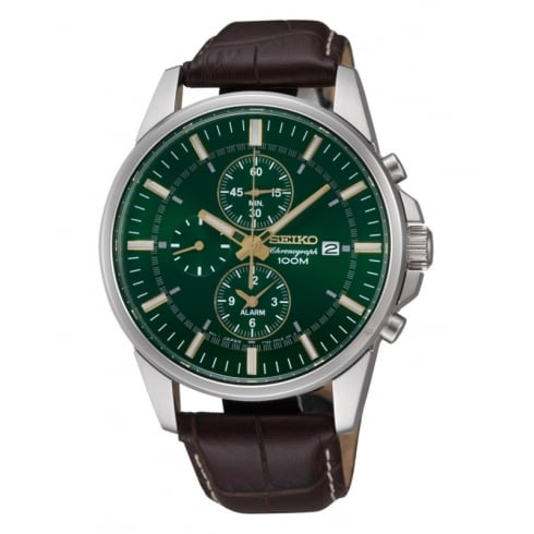 Seiko Men's Chronograph Strap Watch SNAF09P1