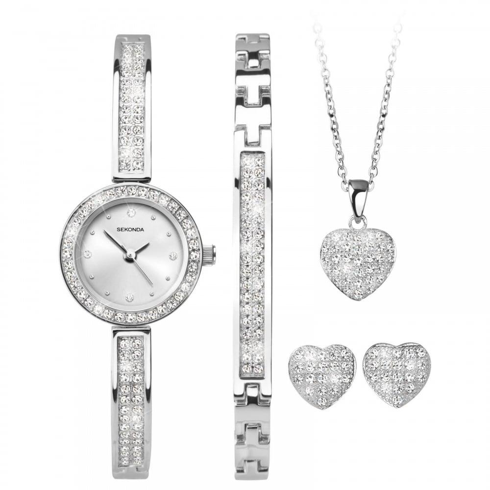 58f929cc24052 Sekonda Ladies Gift Set Watch, Bracelet Necklace & Earrings 2528G