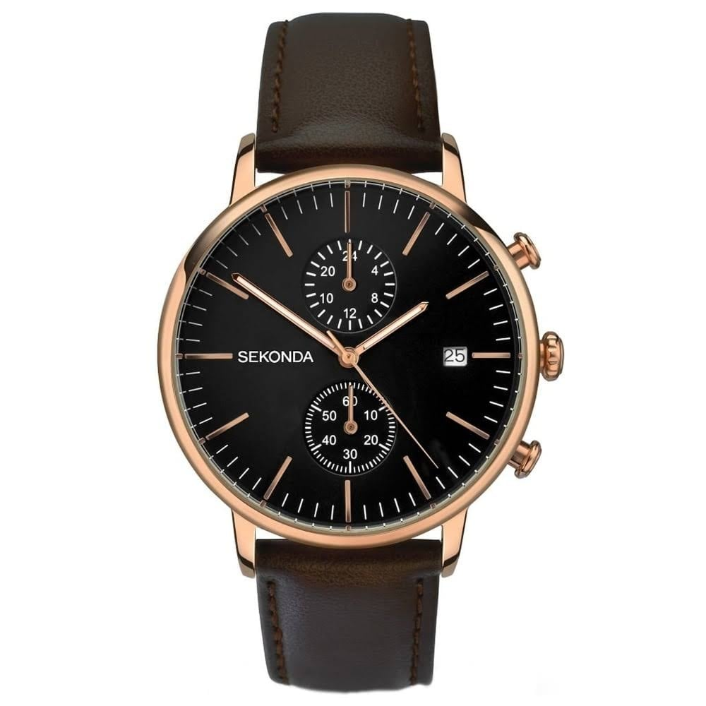 watch mens emporio brown strap leather image watches armani from