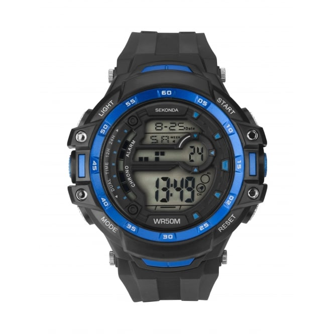 Sekonda Men's Digital Dual Time Chronograph Watch 1520