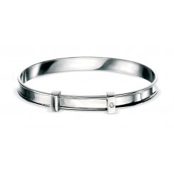 Silver D for Diamond Baby Bangle - B306