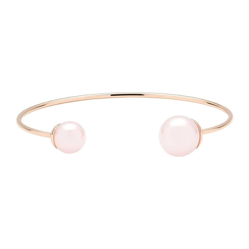 7fd89b777579 Ted Baker Jewellery Deliaa Double Pearl Ultra Fine Cuff Rose Bangle TBJ1296- 24-213