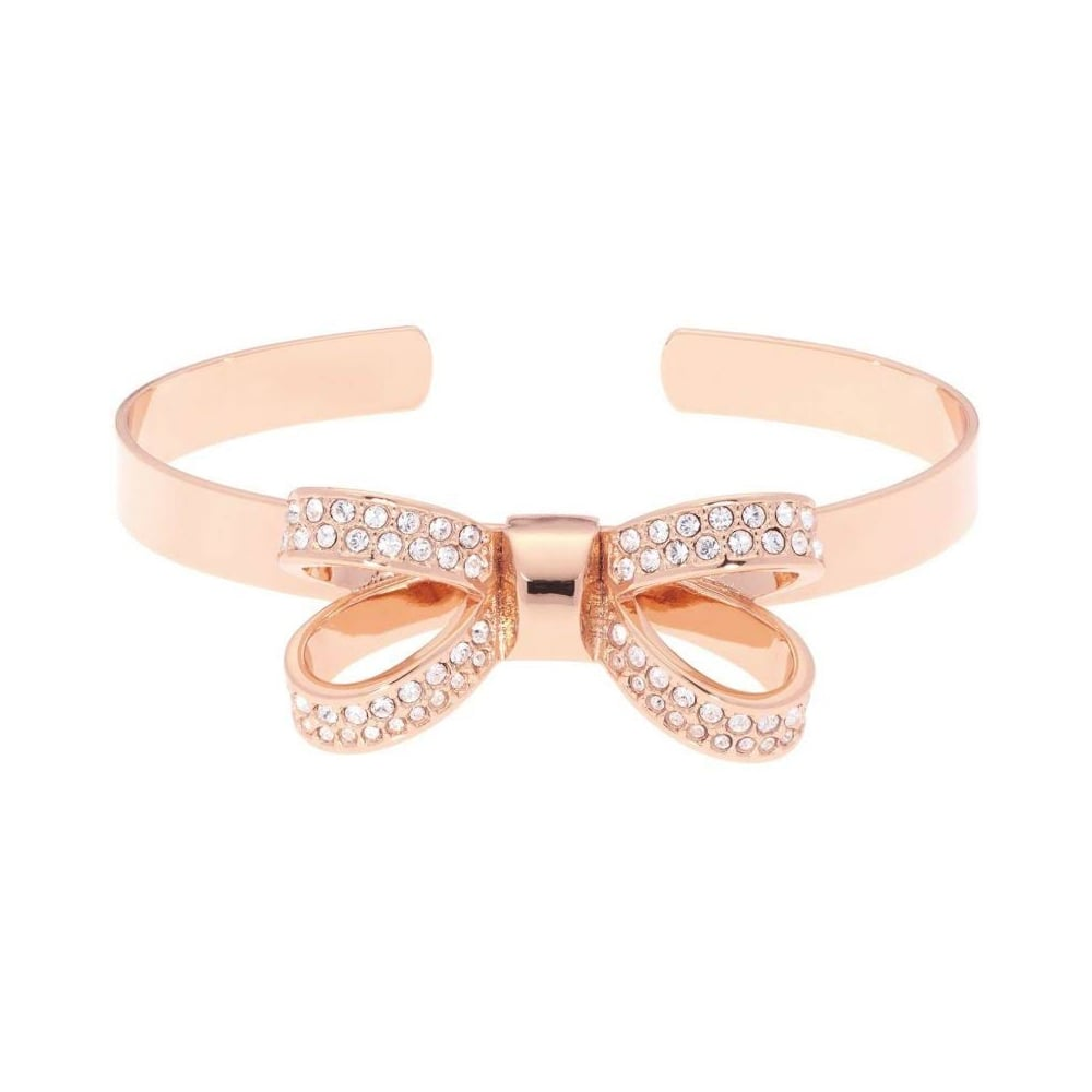 a few days away best sneakers well known Ted Baker Jewellery Olexaa Opulent Pave Bow Rose Cuff Bangle ...