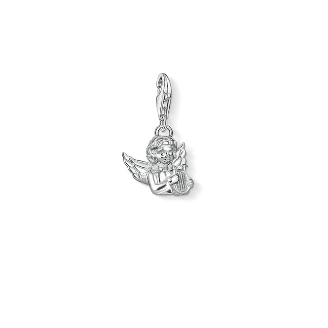 Thomas Sabo Charms Silver Angel With Lyre Charm 1381-001-12