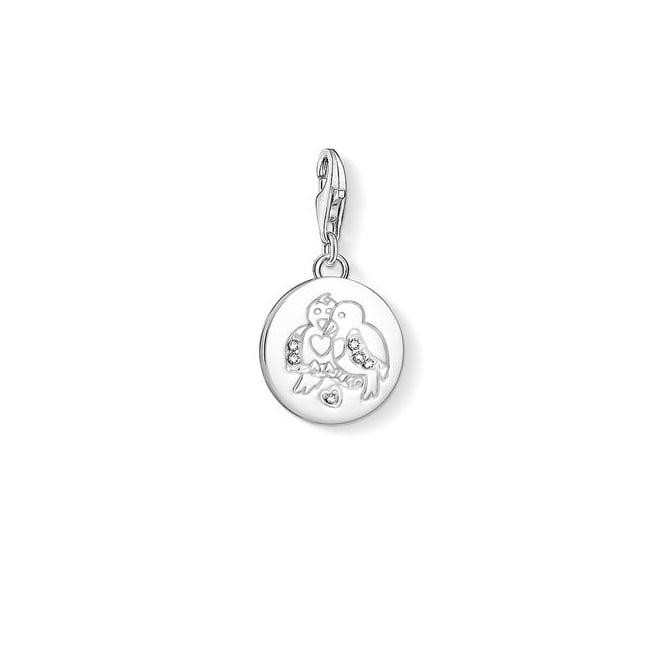 Thomas Sabo Charms Silver Turtle Doves Charm 1388-051-14
