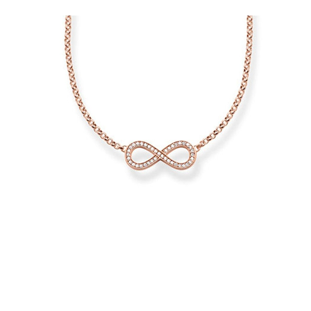 gold in tw infinity necklace white diamond