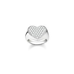 Thomas Sabo Jewellery Silver CZ Heart Ring TR2084-051-14-54