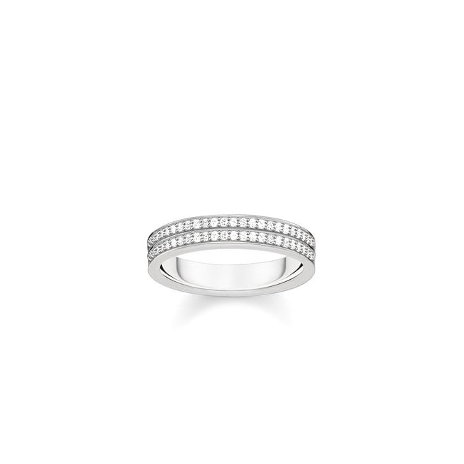 Thomas Sabo Jewellery Silver Glam & Soul Ring TR2119-051-14-56