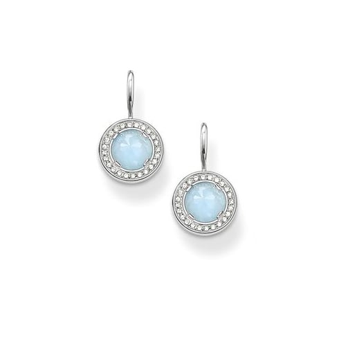 Thomas Sabo Jewellery Thomas Sabo Silver Cubic Aquamarine Earrings H1809-694-31